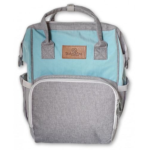 Aqua-Grey BiddyKins Nappy Backpack