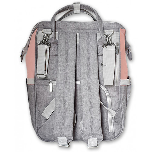 Pink-Grey BiddyKins Nappy Backpack