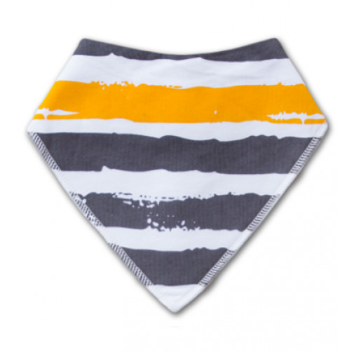 BB005 Yellow Grey Stripe Bandana