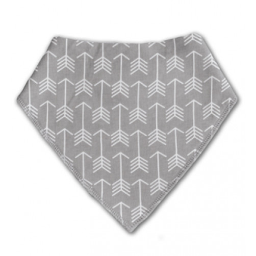BB008 Grey White Arrow Pattern Bandana