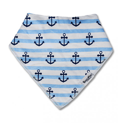 BB010 Blue Stripe Anchors Bandana