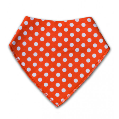 BB015 Orange Red Polka Dot Bandana