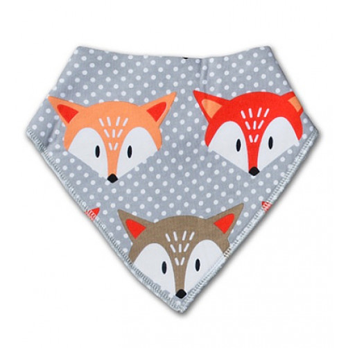 BB017 Grey Orange Foxes Bandana