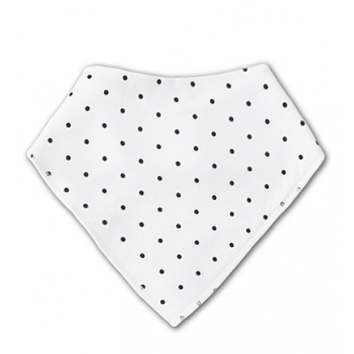 BB020 White Black Spots Bandana