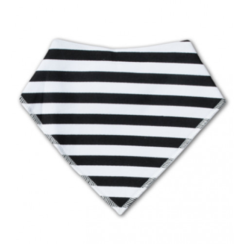 BB022 Black Horizontal Stripe Bandana