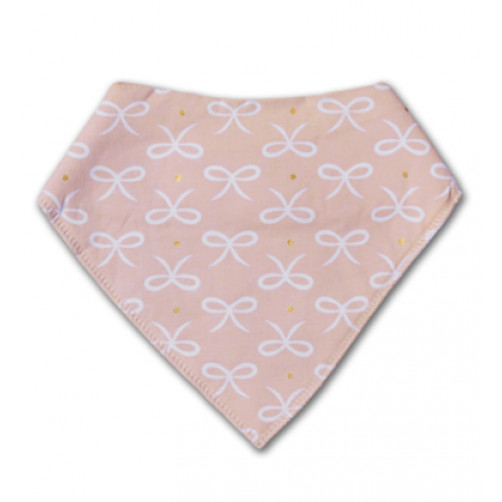 BB024 Pink White Ribbon Bandana