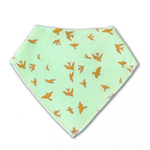 BB025 Green Gold Birds Bandana