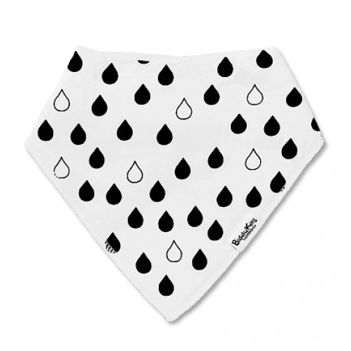 BB034 White Black Drops Bandana