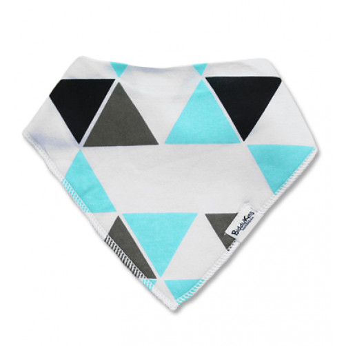 BB040 Aqua Triangles Bandana