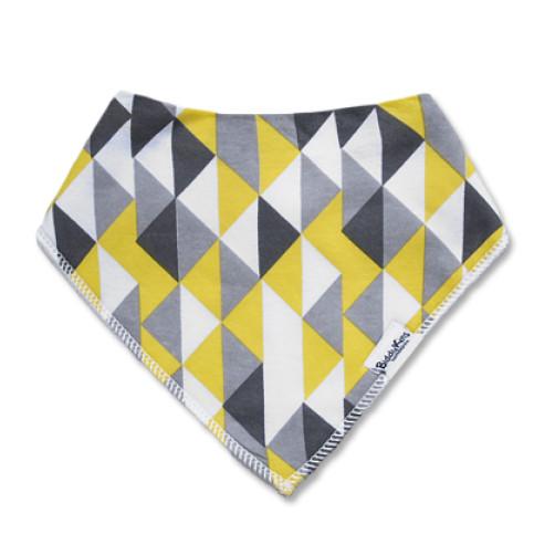 BB041 Yellow Grey Triangles Bandana