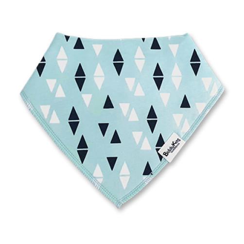 BB045 Aqua Black White Triangles Bandana