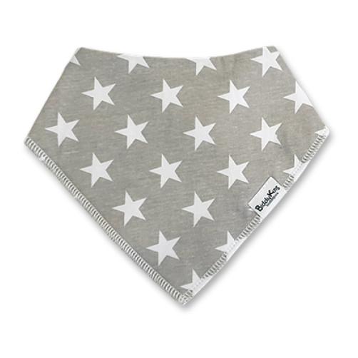 BB054 Grey White Stars Bandana