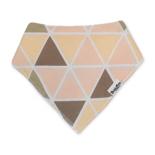 BB058 Pink Yellow Brown Triangles Bandana