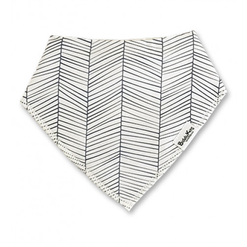 BB062 White Thin Navy Lines Bandana