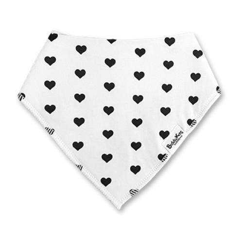 BB063 White Black Hearts Bandana