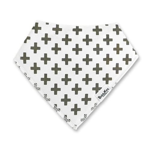 BB065 White Brown-Grey Crosses Bandana