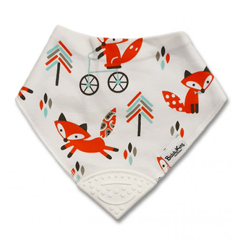 Fox Trees Bicycle Teether Bib