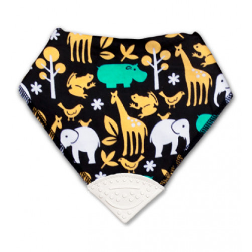Yellow Aqua Animals Teether Bib