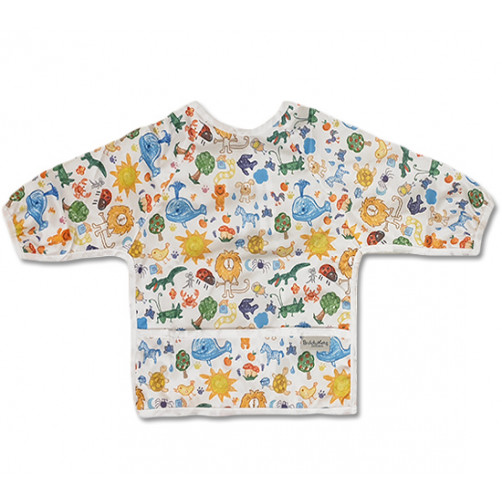 LSB014 Multicolor Animal Drawings Long Sleeve Bib