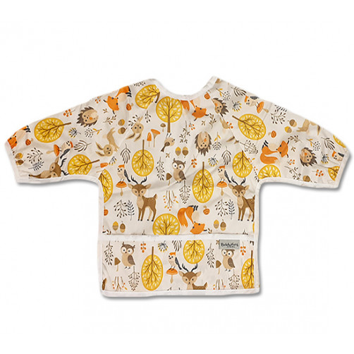 LSB018 Owls HedgeHogs Foxes Long Sleeve Bib