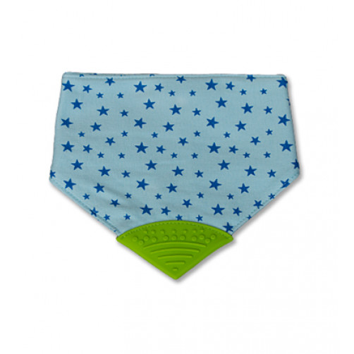 Small Blue Stars Waterproof Teether Bib
