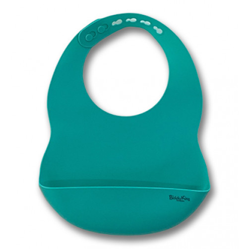 Catch-All Silicone Bib - Turquoise