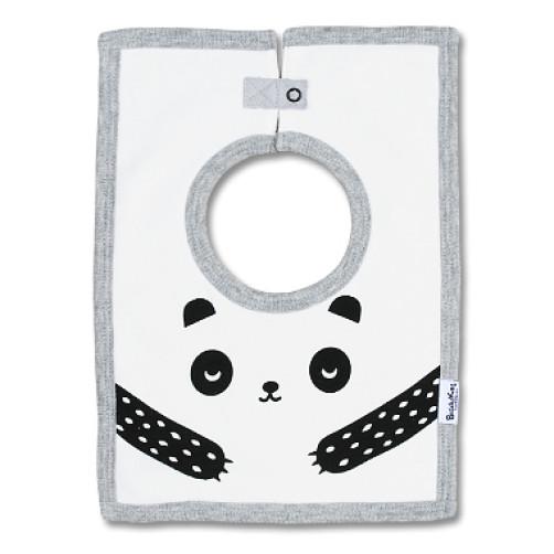 SQB02 Panda Face Square Bib