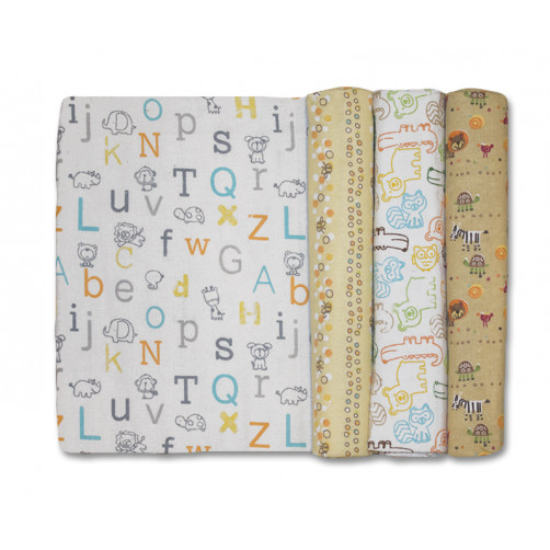 Size (L) Alphabet Animals Blanket Set