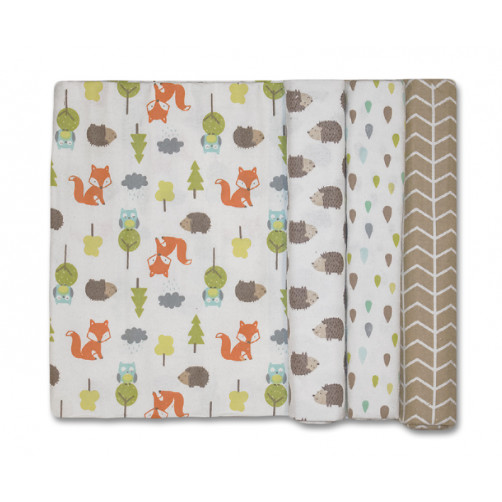 Size (L) Foxes Owls Hedgehogs Blanket Set