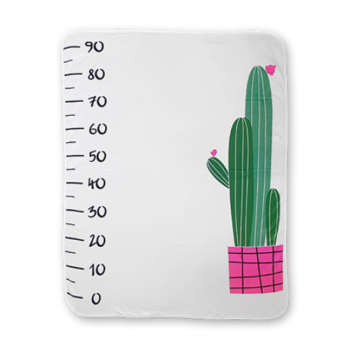 Cactus Growth Chart Blanket