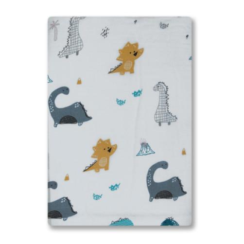 BBM009 Cute Dinosaurs Bamboo Muslin Blanket