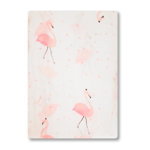 BBM006 Pink Flamingos Bamboo Muslin Blanket