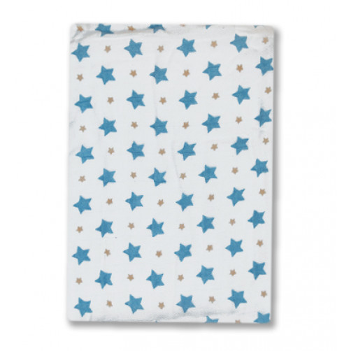 BBM008 Blue Stars Bamboo Muslin Blanket