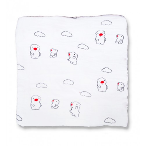 Red Nose Muslin Blanket