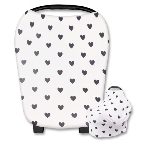 CC002 White Black Hearts Carrier Cover