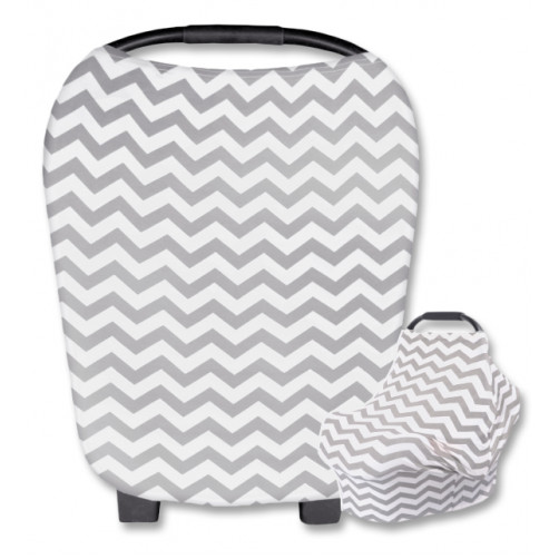 CC005 White Grey Chevron Carrier Cover