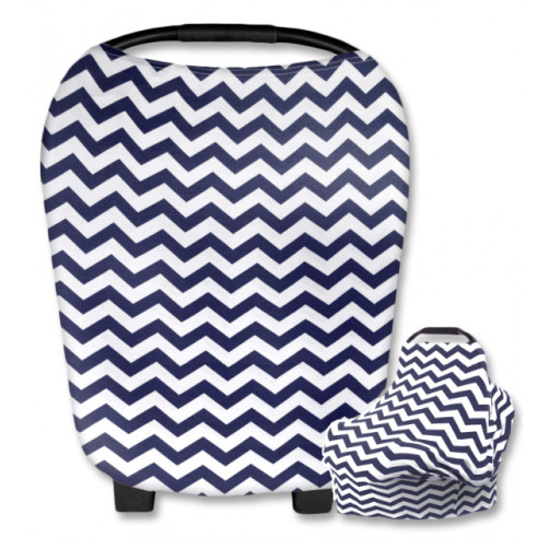 CC006 White Navy Chevron Carrier Cover