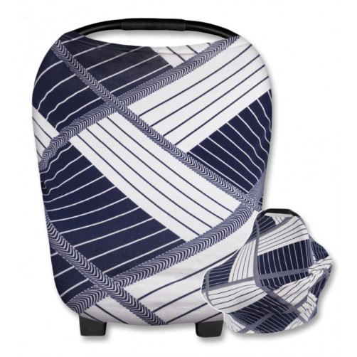 CC007 White Navy Stripes Carrier Cover