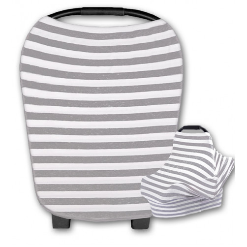 CC011 Grey Horizontal Stripe Carrier Cover