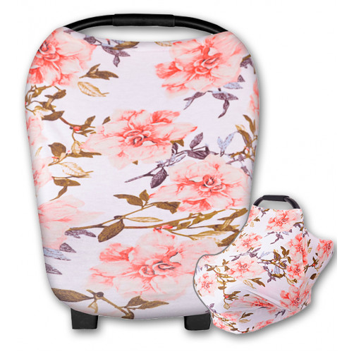 CC012 Large Pink Floral Carrier Cover