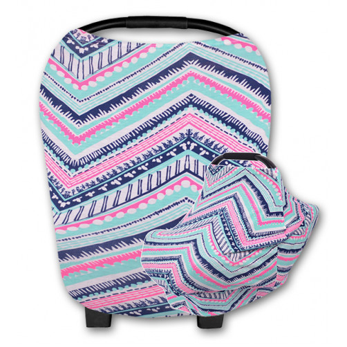CC013 Aqua Pink Navy Pattern Carrier Cover