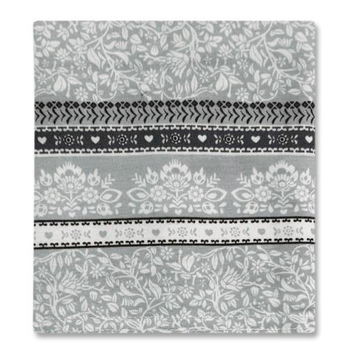 CC017 Grey Floral Dark Stripe Carrier Cover