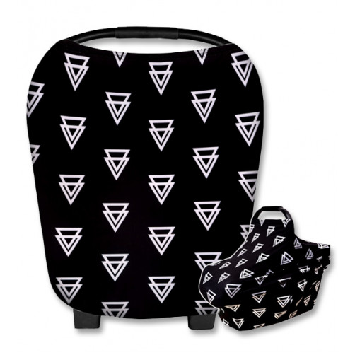 CC019 Black White Double Triangles Carrier Cover