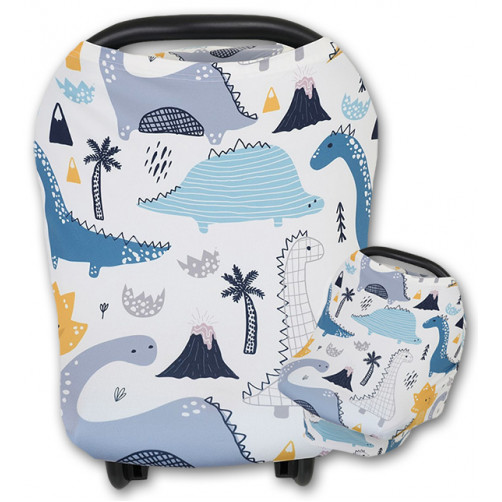 CC024 Blue Mustard Dinos Carrier Cover