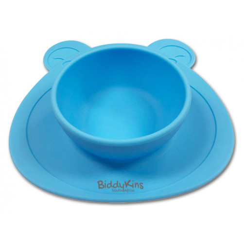 SB001 Blue Silicone Bowl & Placemat