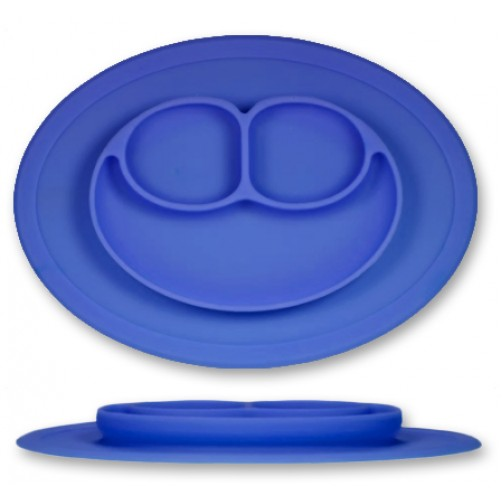 PLATE: Dark Blue 3-Compartment Plate