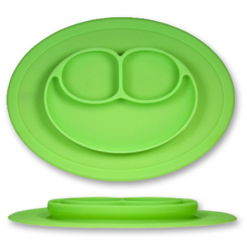 PLATE: Green 3-Compartment Plate