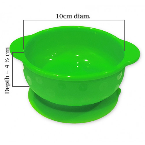 Green Small Suction Bowl
