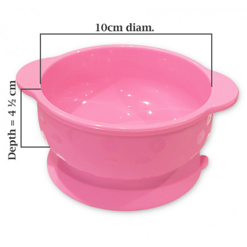 Pink Small Suction Bowl
