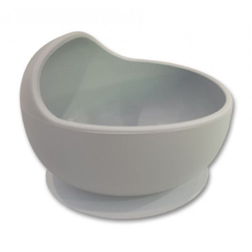 Grey Small Suction Bowl with Lip